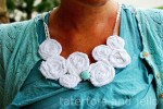 Make a Beachy Rosette Button Necklace {tutorial}