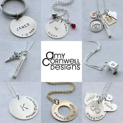 Giveaway Monday — Amy Cornwell Designs {personalized jewelry for all of life's events!}