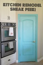 Kitchen Remodel Sneak Peek — and a Painted Pantry Door!!