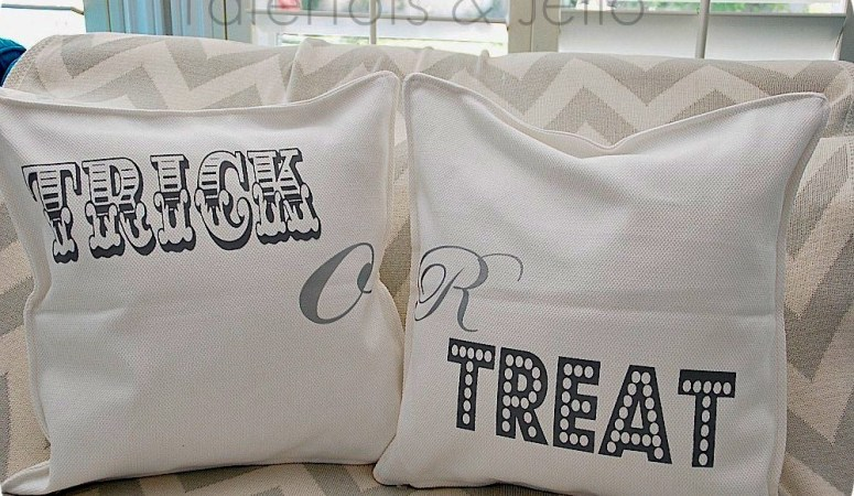 Three Halloween Pillows {tutorial}
