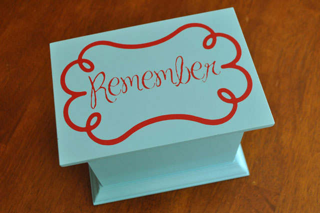 "Guest Project – Make a ""Remember Quote Box"""
