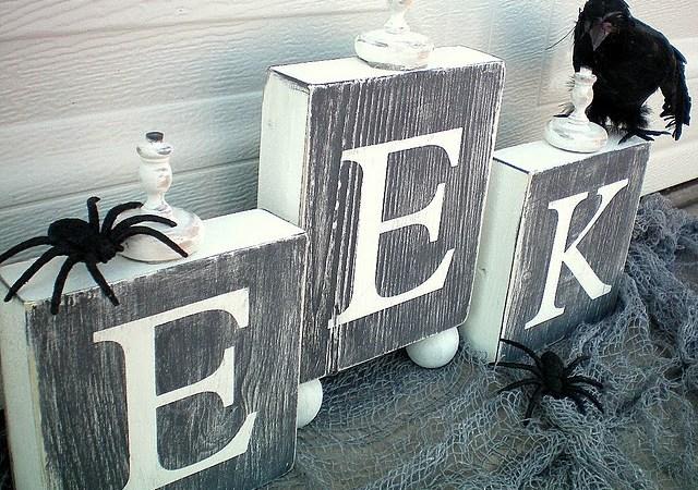 Halloween Project — Make EEK Blocks!! {tutorial}