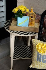 Fabric-Covered Resin Table Redo {plus 23 other resin project ideas}