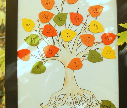 Make a Thanksgiving Countdown Tree {holiday printable activity}!!