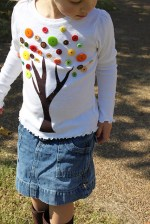 Fall Project — Make a Tree Button Shirt! {with free pattern}