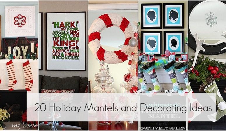Great Ideas – – 20 AWE Inspiring Mantels & Christmas Decor!!