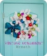 Make a Vintage Ornament Wreath (tutorial)!!