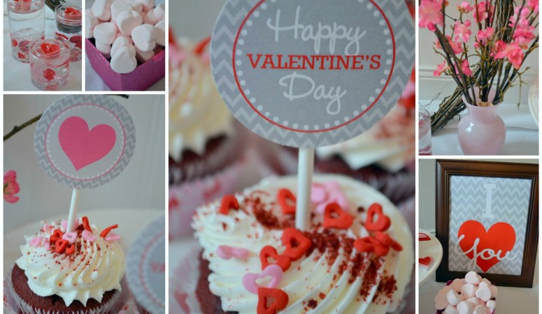Free Chevron Valentine's Day Party Printables!!