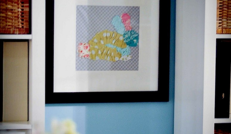 Make a Scrappy Bunny Wall Hanging with Free Template!!