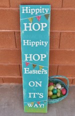 Make a Hippity Hoppity Easter Subway Art Sign!