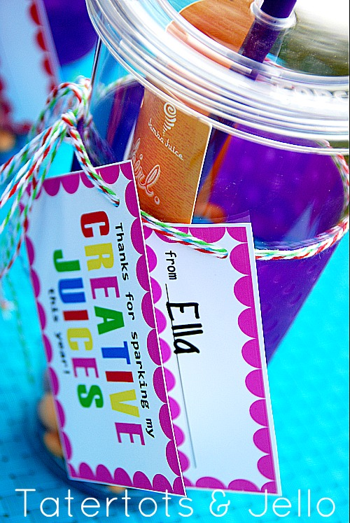 """Creative Juice"" Teacher Appreciation Printable and Gift Idea!"