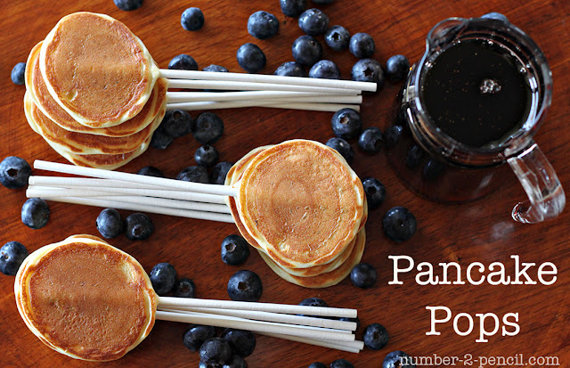 Pancake Party Pops and 1 month of kids craft ideas.