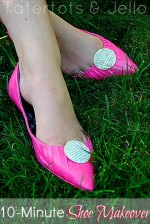 10-Minute Spray Painted Shoe Makeover!
