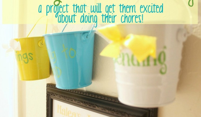 Teaching Kids to Save Money: DIY Chore Chart Idea!