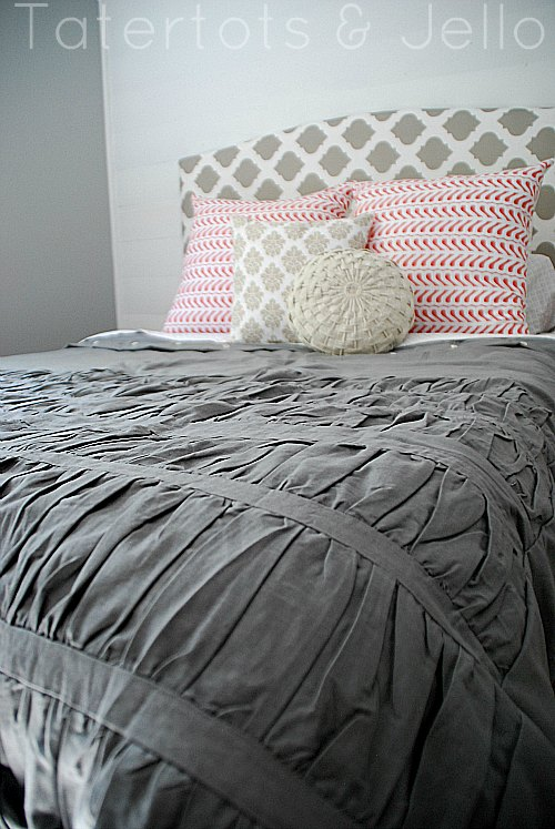 Repurpose Fabric Shower Curtain Into A Ruffled Duvet
