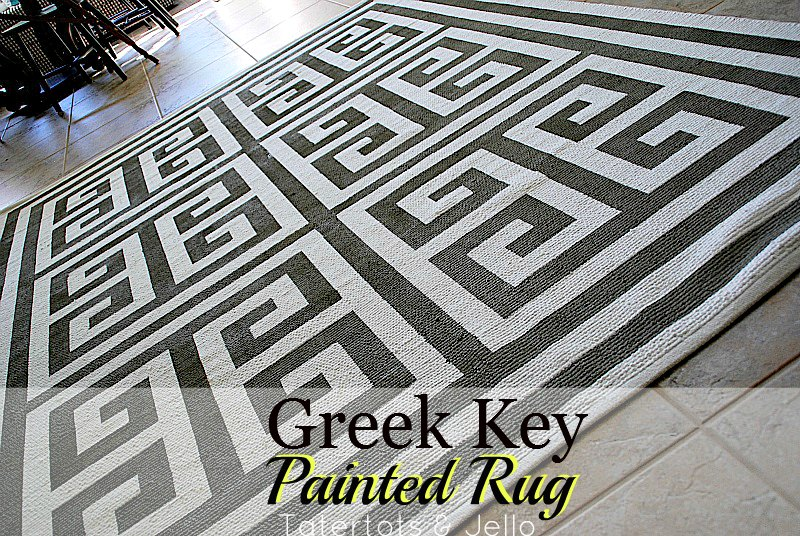 How To Make A Painted Greek Key Rug