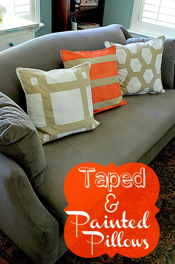 Easy Decorating DIY -- Make Taped and Painted Pillows in ...