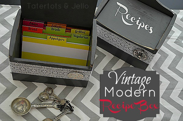 Make a Vintage/Modern Recipe Card Holder – with Free Printable!