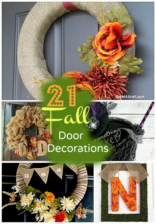 21 fall door decor happy fall - Fall Door Decorations
