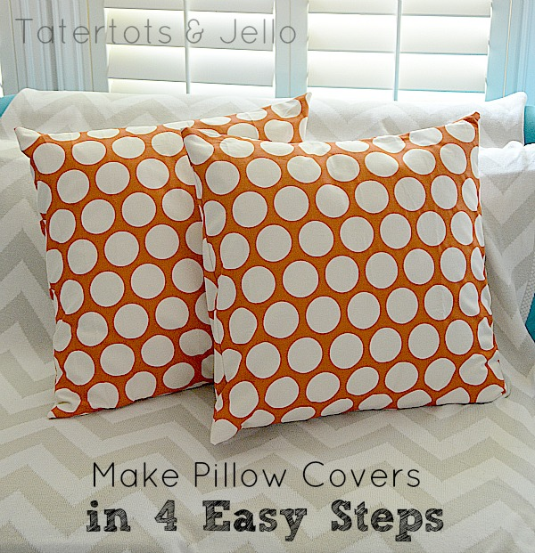 envelope pillow covers in 4 easy steps