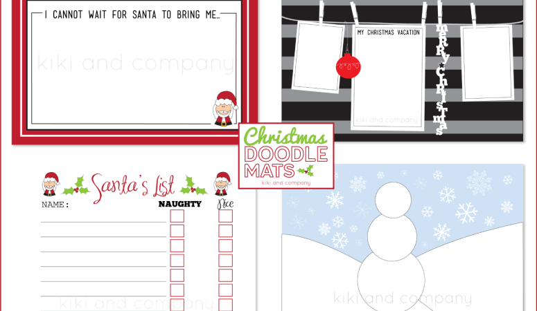 HAPPY Holidays – Printable Doodle Mats!