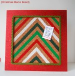 HAPPY Holidays — Chevron Christmas Memo Board