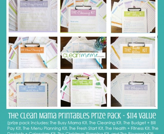 Weekend Wrap Up Party — and Clean Mama Printables Giveaway!!
