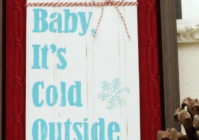HAPPY Holidays — DIY Winter Shadowbox Sign