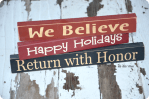 HAPPY Holidays — Turn a Board into a DIY Neighbor Gift