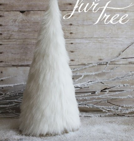 HAPPY Holidays – Make DIY Faux Fur Trees!