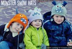 HAPPY Holidays — Make Monster Snow Hats!
