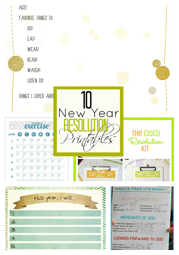 graphic about New Year Resolution Printable identified as 10 Fresh new A long time Remedy Printables