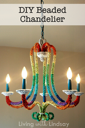 Marvelous Colorful Beaded Chandelier