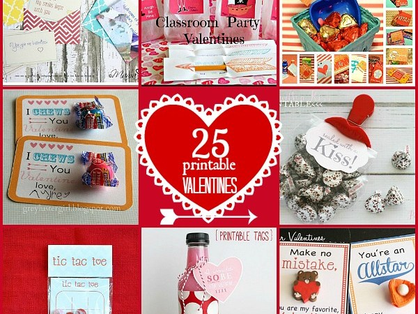 Great Ideas — 25 Free Printable Valentines!!