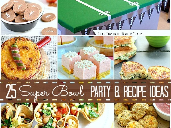 Great Ideas — 25 Super Bowl Game Day Recipes and Party Ideas