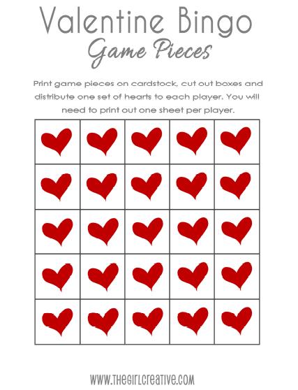 hello ttj friends - Valentine Bingo Cards