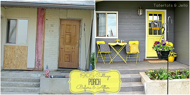 1905 cottage porch before and after