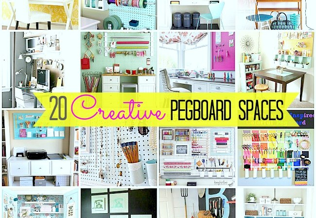 20 Inspiring Pegboard Creative Spaces!