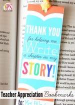 Free Printable Teacher Appreciation Bookmarks!