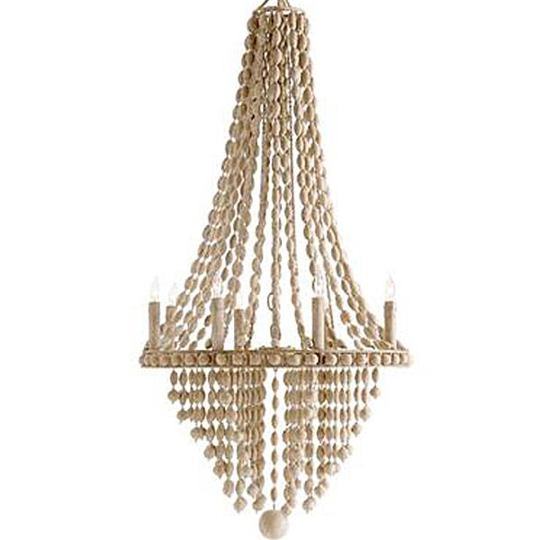 How to make a diy wood beaded chandelier tatertots and jello arteriors beaded chandelier mozeypictures Gallery