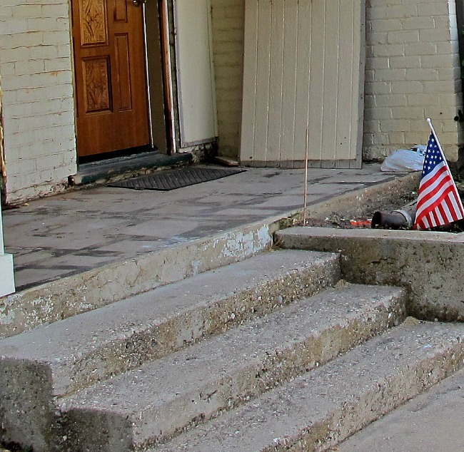 cement steps before