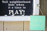 Make a Front Porch Let's Play Sign!