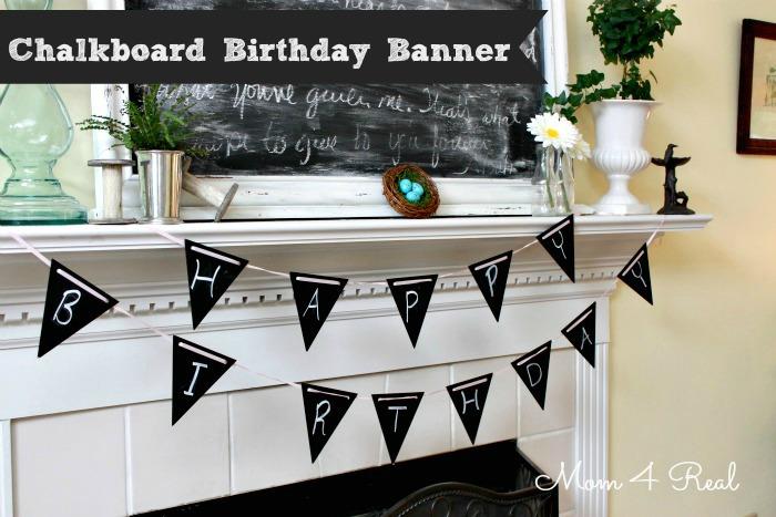 reusable birthday banner