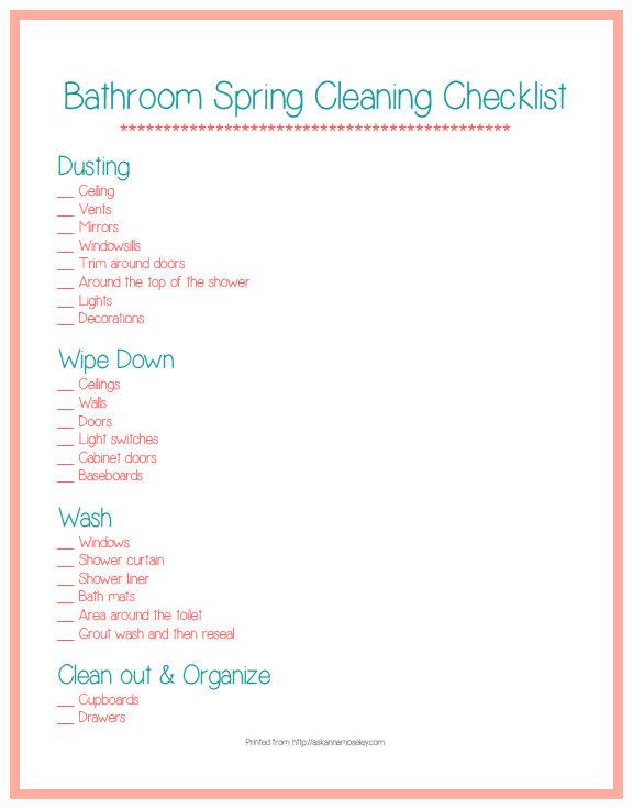 spring cleaningchecklist