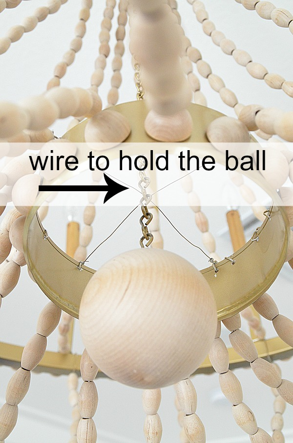wire to hold the ball