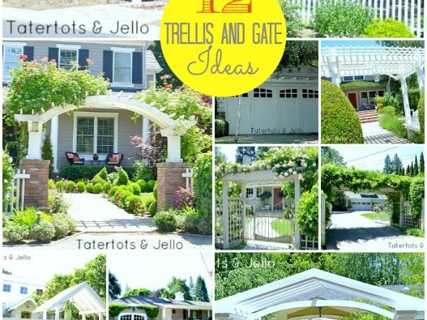 #1905Cottage: 12 DIY Pergola,Trellis and Gate Ideas!!