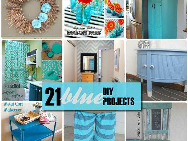 Great Ideas — 21 Blue DIY Projects!!