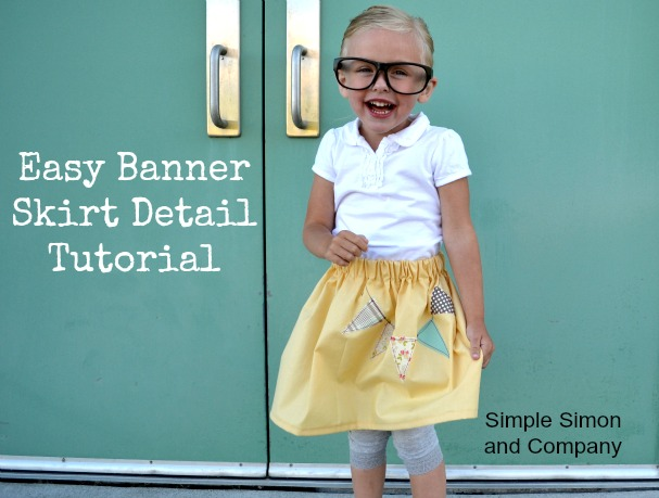 easy banner skirt tutorial