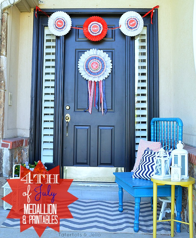 4th of july medallion and printables