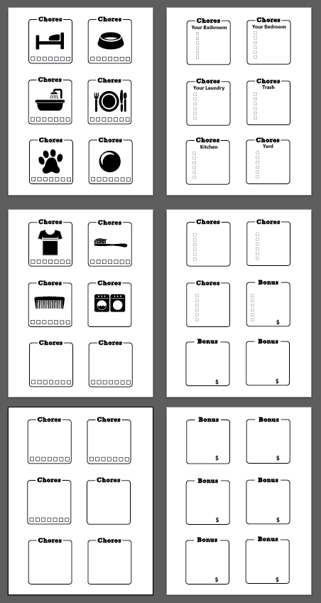 chore borders printable screen shot